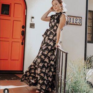 TAHARI Floral Maxi Dress